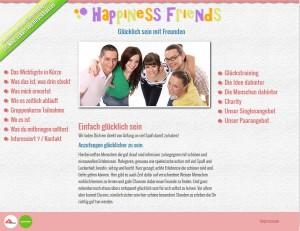 Happiness Friends Screenshot Website